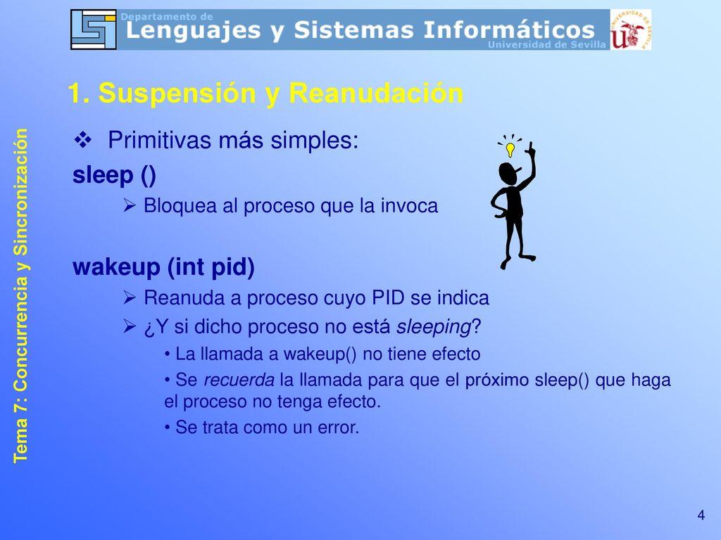 Tema 7: Concurrencia y Sincronización - ppt descargar