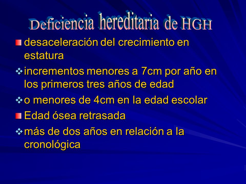 Deficiencia hereditaria de HGH