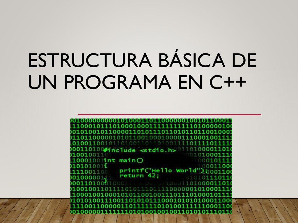 Estructura Básica De Un Programa En C Ppt Descargar