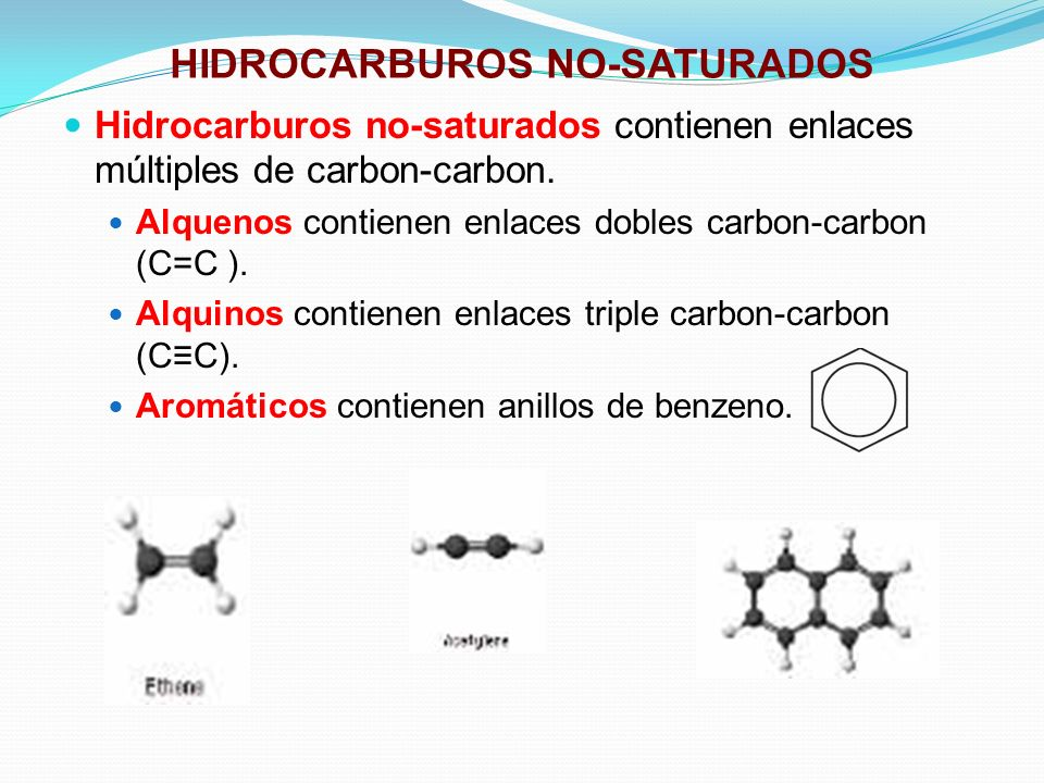 HIDROCARBUROS NO-SATURADOS