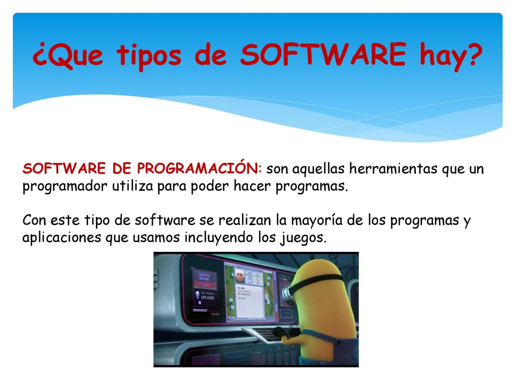 ¿Que tipos de SOFTWARE hay