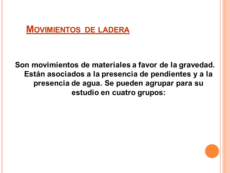 Movimientos de ladera