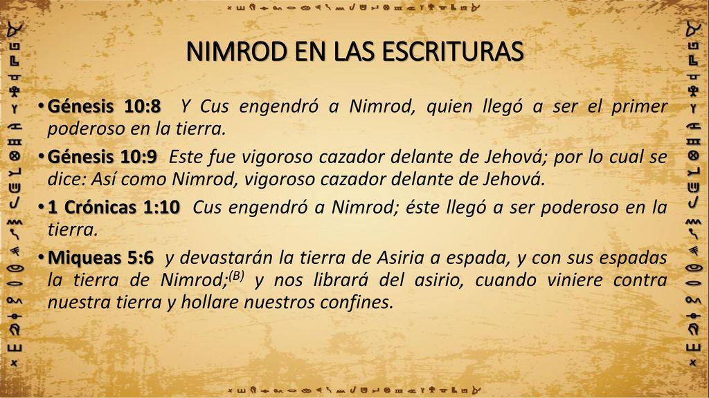 Resultado de imagen para NIMROD PASTOR