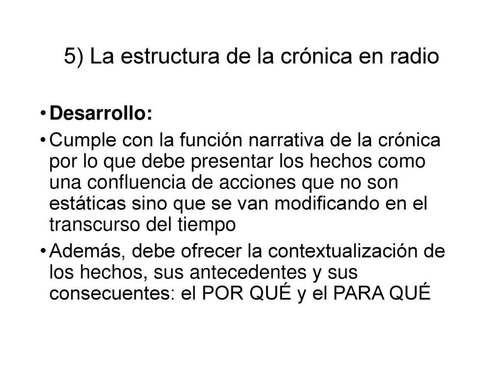 Tema 4 La Crónica En Radio Ppt Descargar