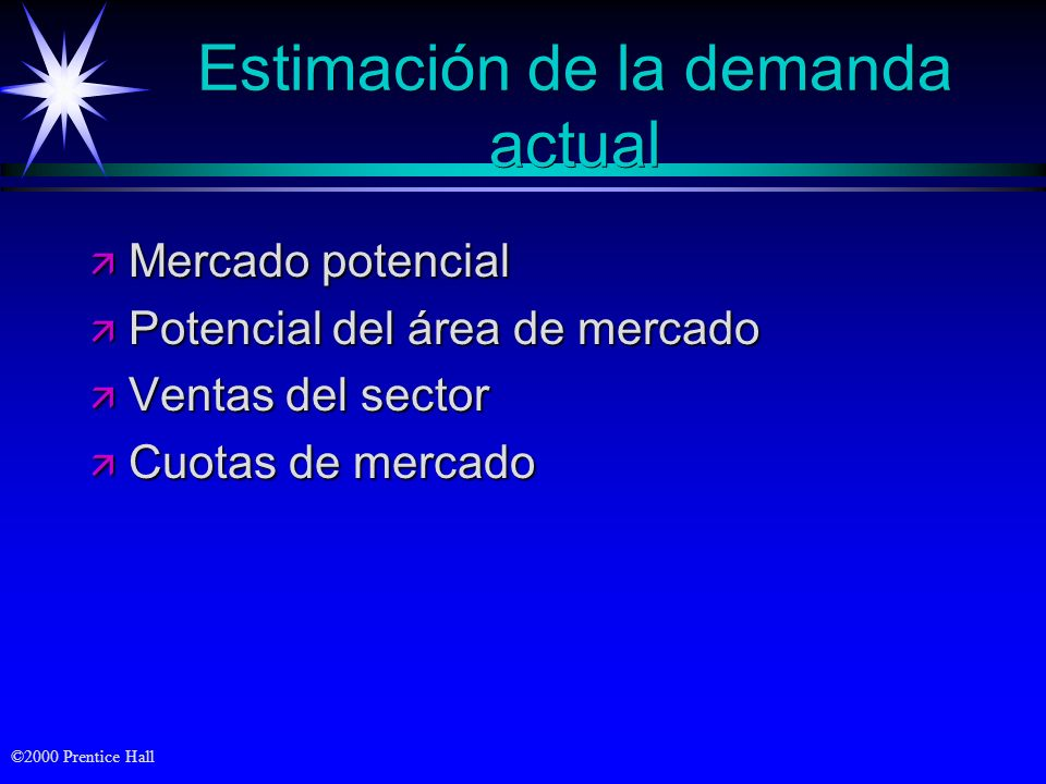 Estimación de la demanda actual