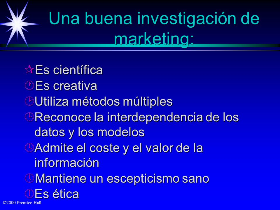 Una buena investigación de marketing: