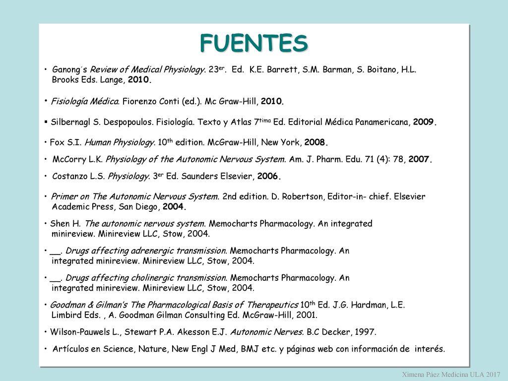 Universidad de los Andes Fisiología para Medicina - ppt descargar