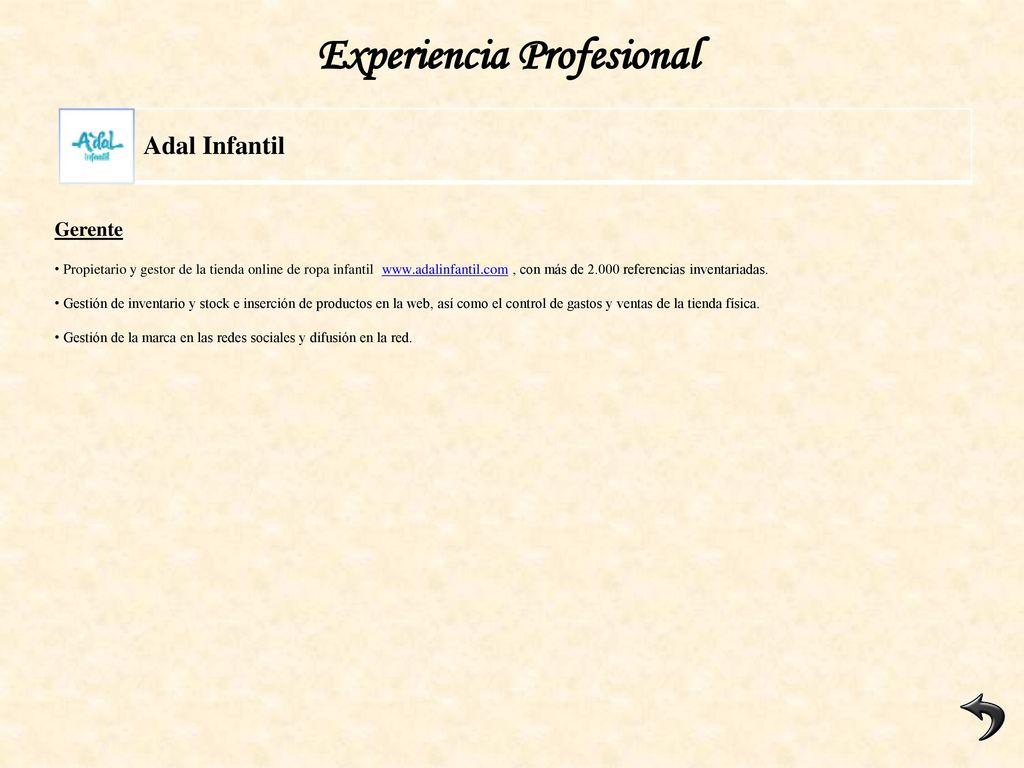CURRÍCULUM VITAE Miguel Macaya Vázquez Y 37 años / Casado - ppt ...