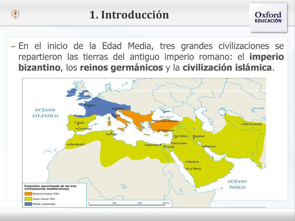 Resultado de imagen de extension de las 3 civilizaciones mediterraneas. imperio bizantino, carolingio islam