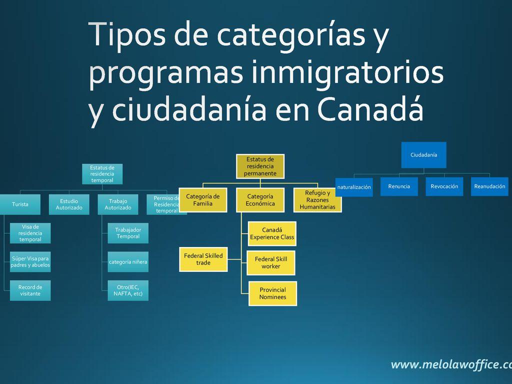 1. Visión en General 2. Inmigración Estatus temporal (turista ...