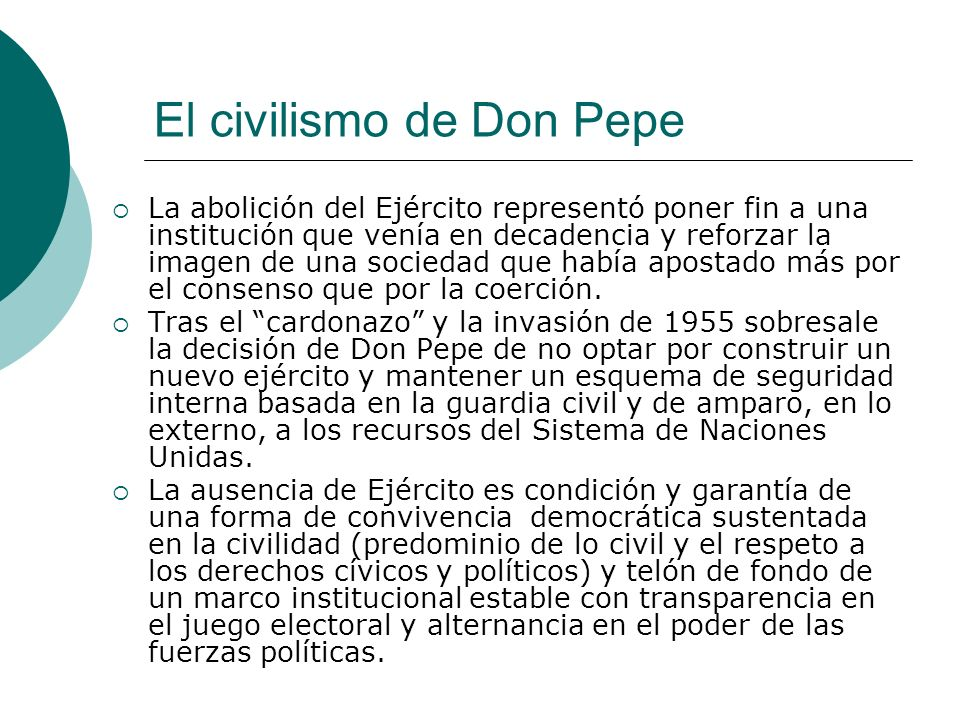 El civilismo de Don Pepe