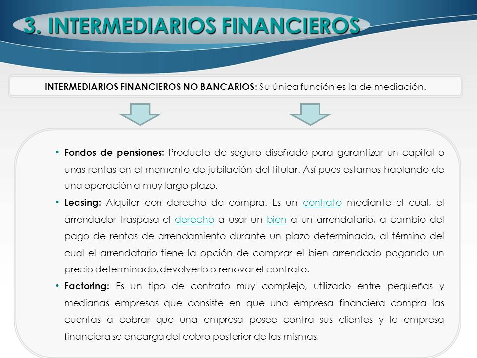 3. INTERMEDIARIOS FINANCIEROS