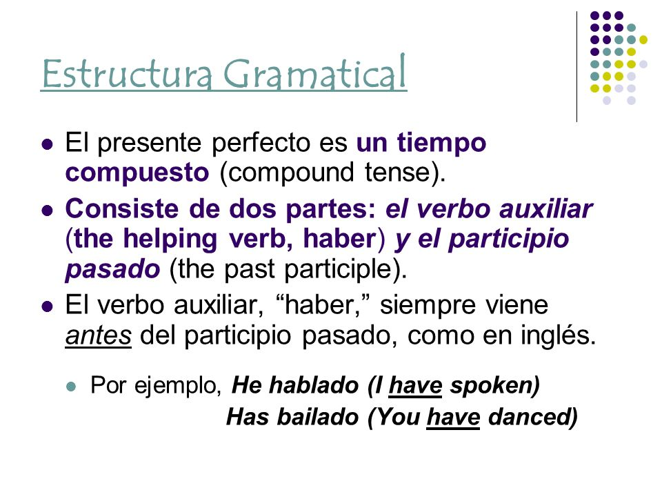 Introducción Estructura Gramatical Conjugación Ppt Descargar