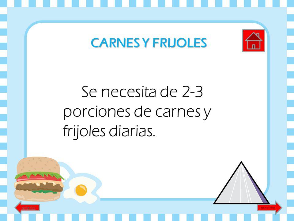 01aed305abf55 20 CARNES Y FRIJOLES Se necesita de 2-3 porciones de carnes y frijoles  diarias. anterior proximo