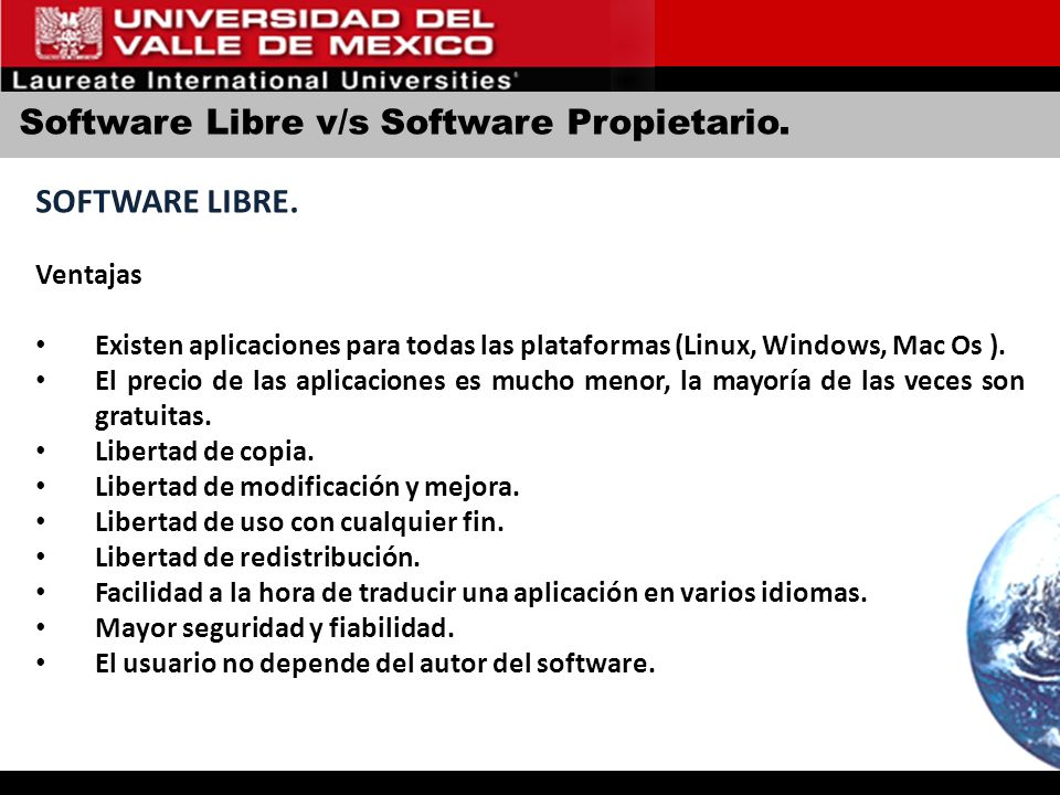 Software Libre v/s Software Propietario.