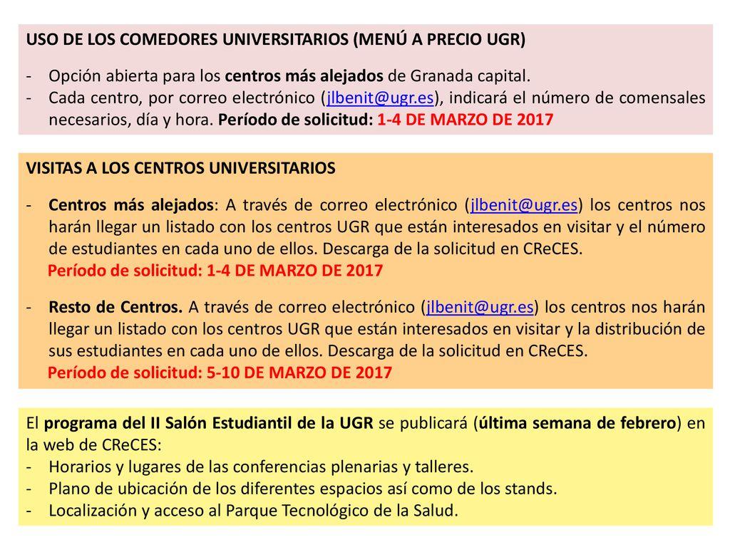 II Salón Estudiantil de la UGR - ppt descargar