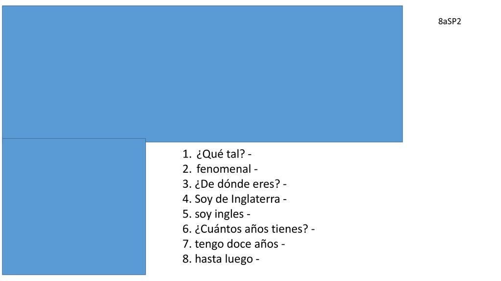 Translate The Following Passage From Spanish Into English Ppt