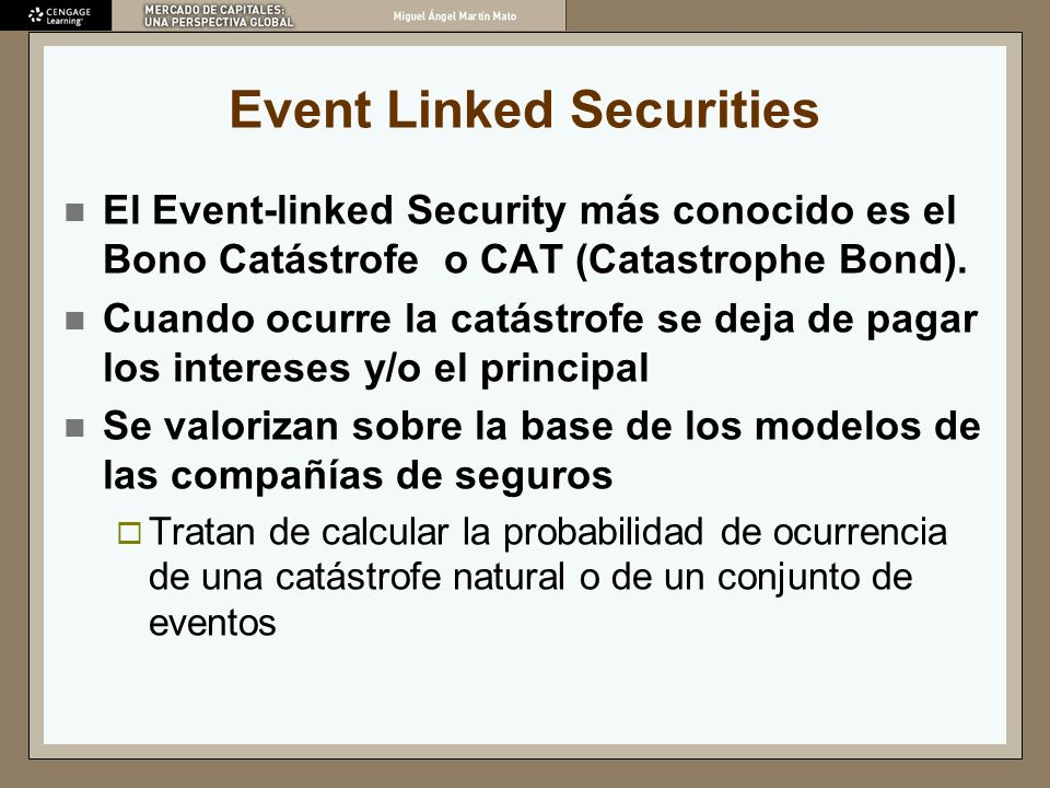 Event Linked Securities