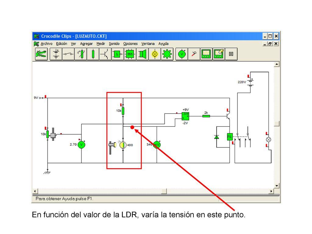 Circuito Sensor De Luz A Amella Oct Ppt Descargar Com Ldr Te1 4 En Funcin Del Valor La Vara Tensin Este Punto
