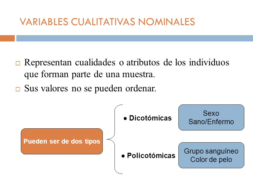VARIABLES CUALITATIVAS NOMINALES