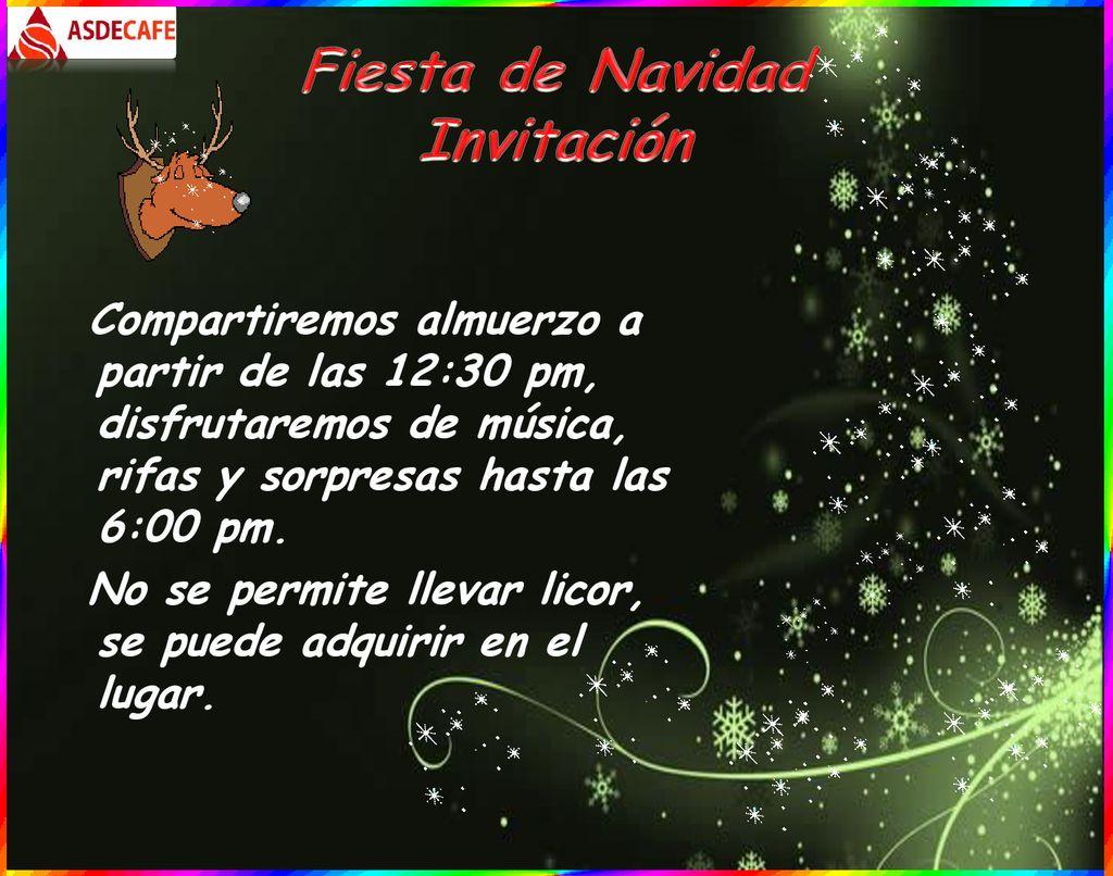 Fiesta De Navidad Invitación Ppt Descargar