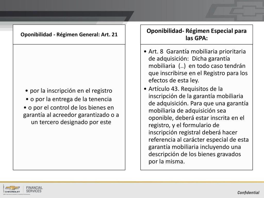 Las garantías mobiliarias para la financiación automotriz - ppt ...