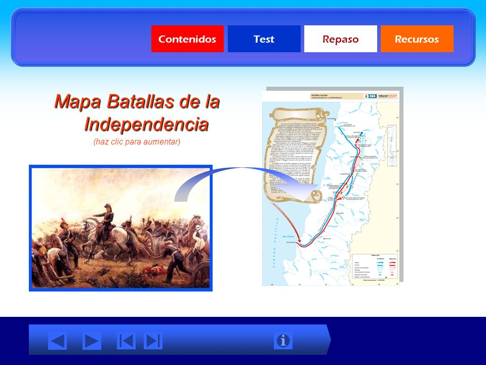 Mapa Batallas de la Independencia