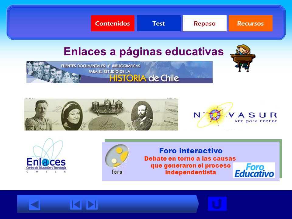 Enlaces a páginas educativas