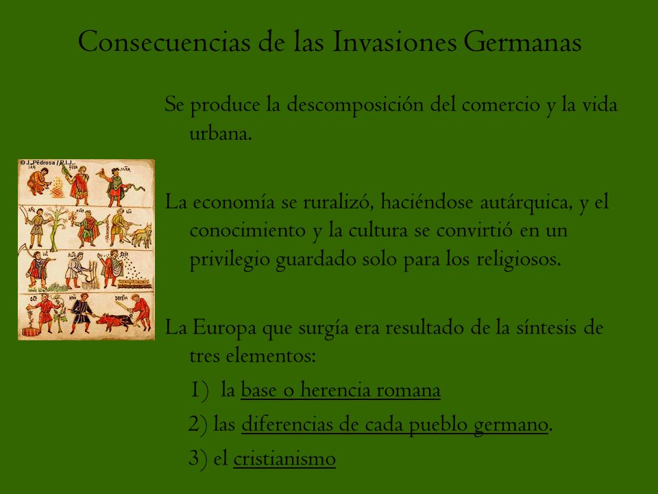 Consecuencias de las Invasiones Germanas