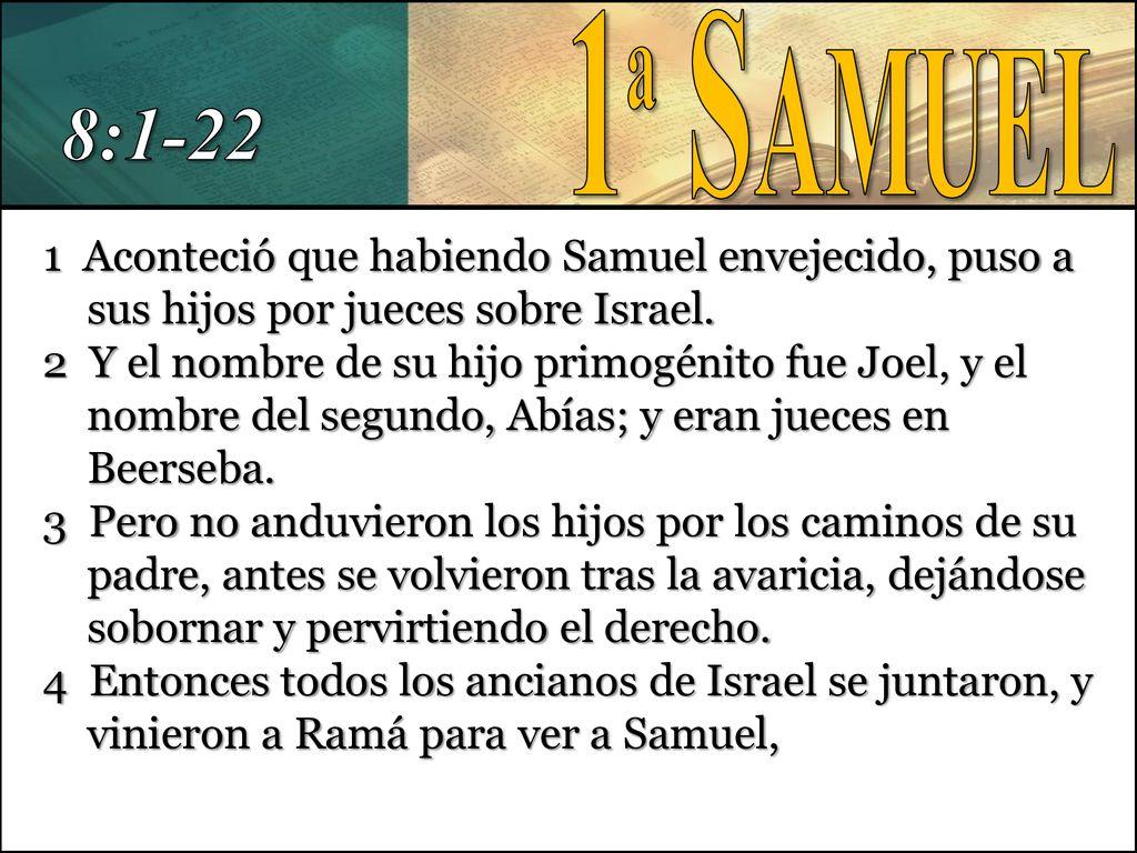 """Resultado de imagen para 1 DE SAMUEL 8"""""""