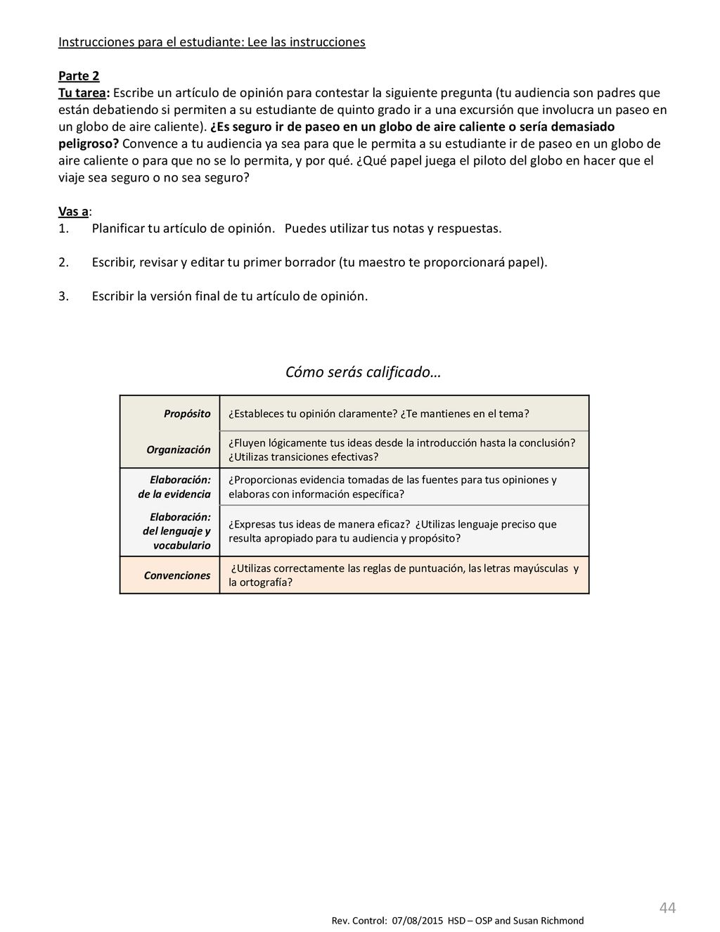 5to Grado Instrucciones del maestro Pre-Evaluación Trimestre 4 - ppt ...