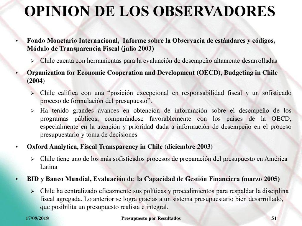 Presupuesto Por Resultados En Chile Utopia O Realidad