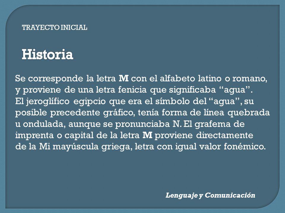 TRAYECTO INICIAL Las letras M y N Lenguaje y Comunicación JCVR ...