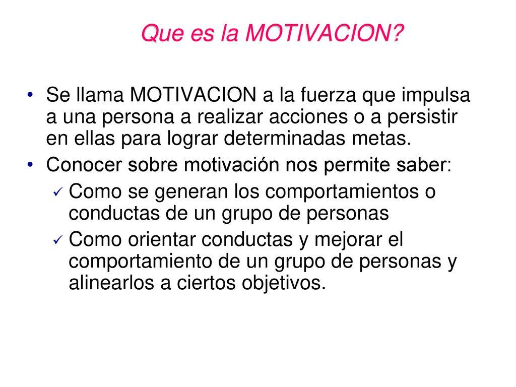Motivación Ppt Descargar