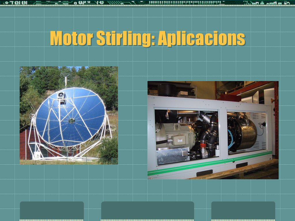Motor Stirling: Aplicacions