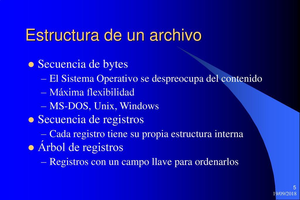 Tema 3 Sistemas De Archivos Ppt Descargar