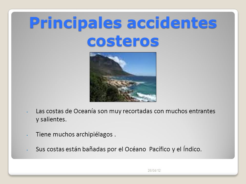 Principales accidentes costeros