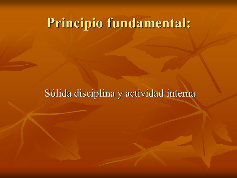 Principio fundamental: