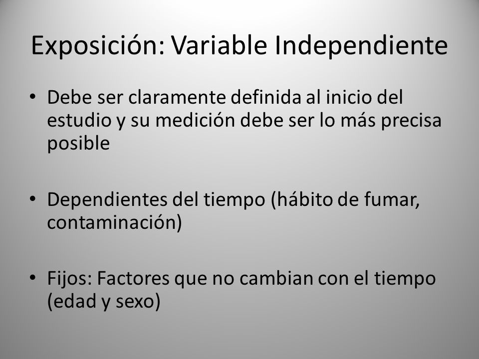 Exposición: Variable Independiente