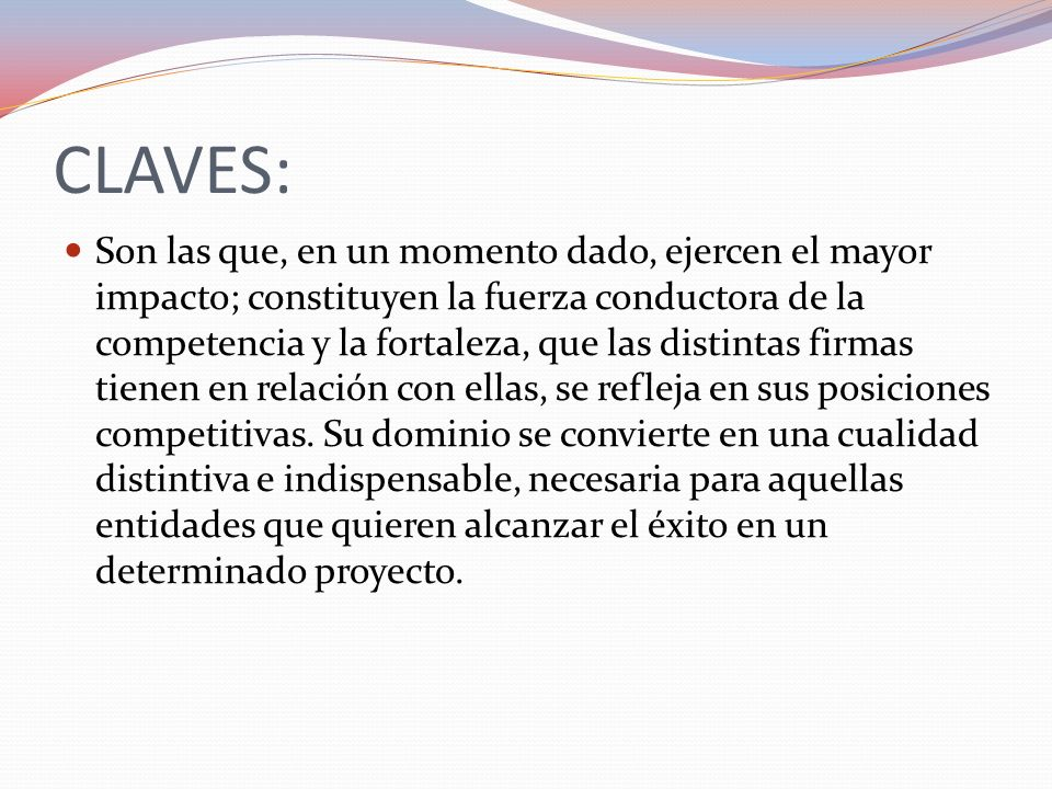 CLAVES: