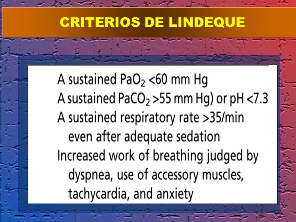 CRITERIOS DE LINDEQUE ion has been criticized for excluding an objective assessment of.