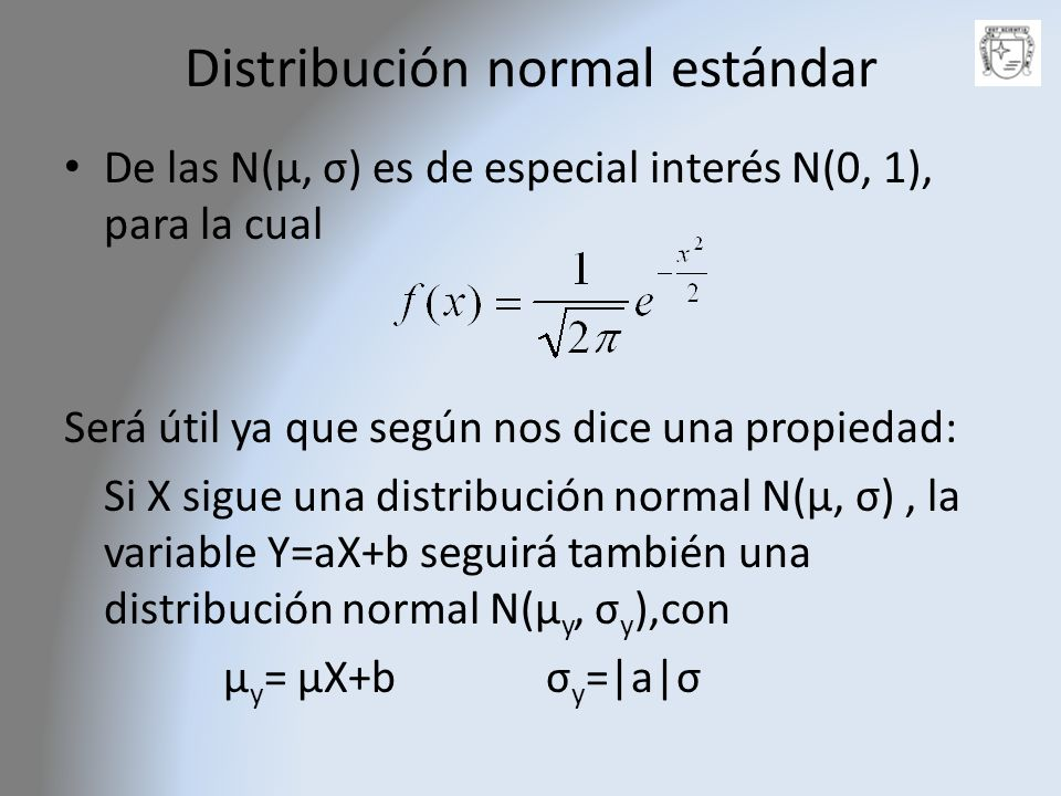 Distribución normal estándar
