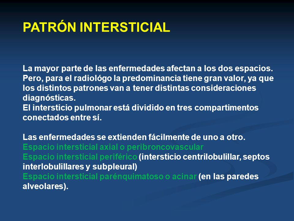 PATRÓN INTERSTICIAL