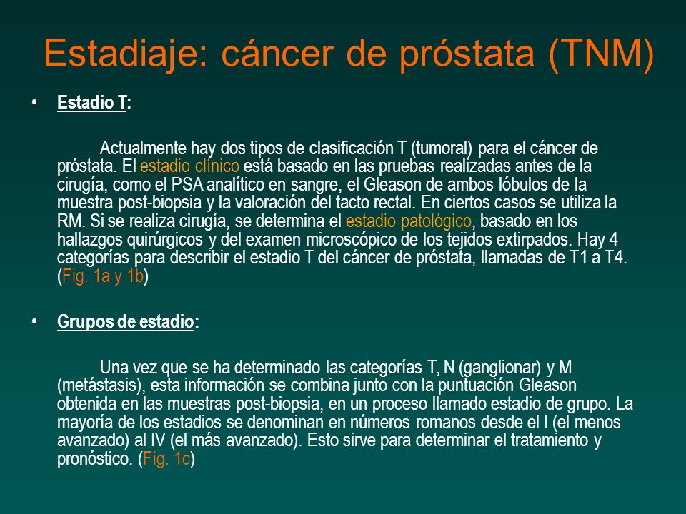estadios tnm cancer prostata