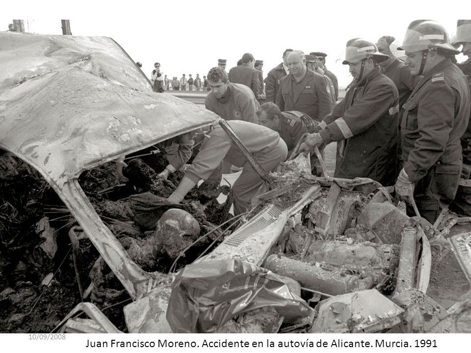 10/09/2008 Juan Francisco Moreno. Accidente en la autovía de Alicante. Murcia. 1991