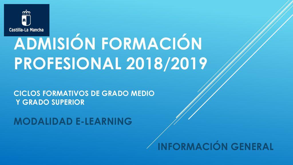 Admisión Formación Profesional 2018 2019 Ciclos Formativos