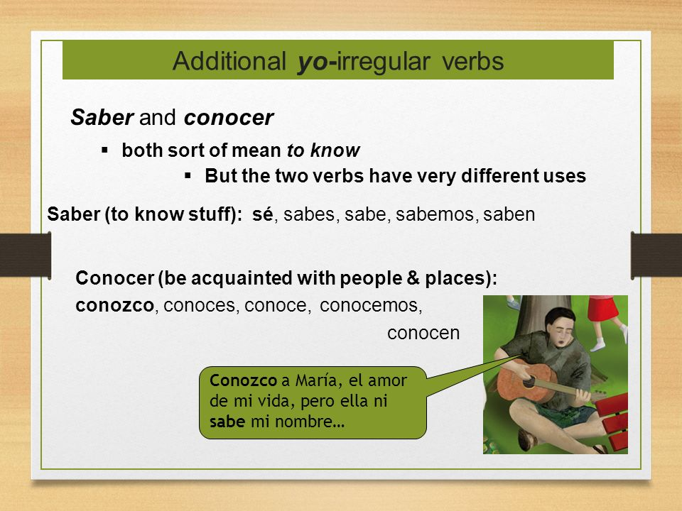 Additional yo-irregular verbs
