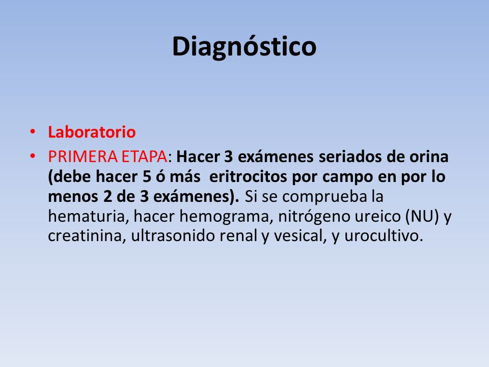 Diagnóstico Laboratorio