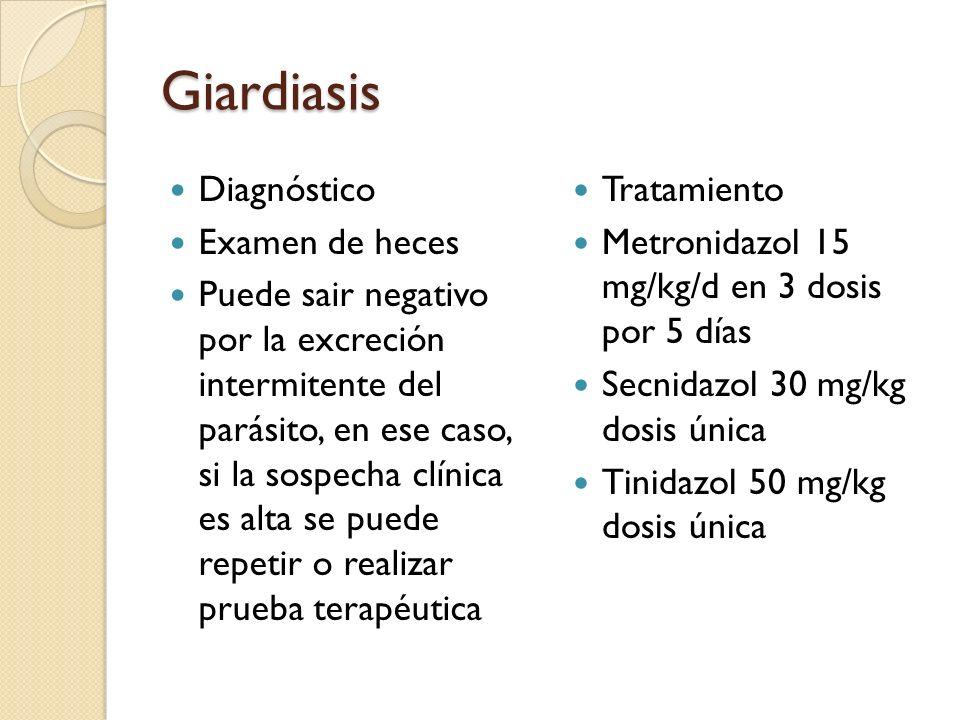 que es la giardiasis diagnostico