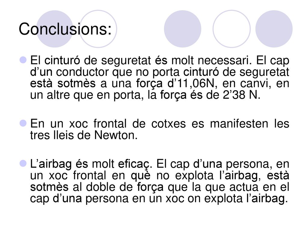Conclusions: